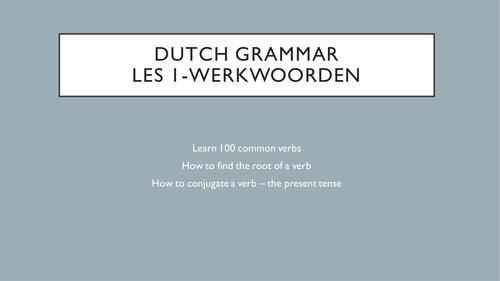100 Common Dutch Verbs - Present Tense