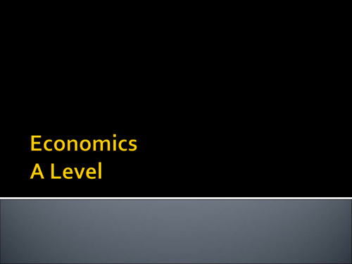 A Level Economics Taster Session