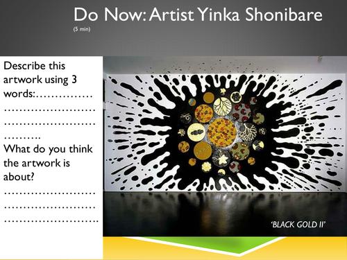 Yinka Shonibare Lesson and Resource