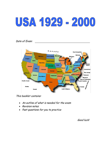 USA 1929-2000 exam preparation