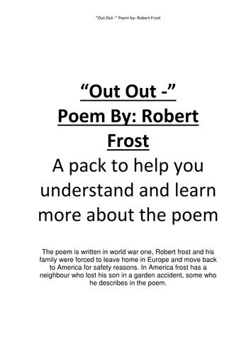 Out Out - Poem by Robert Frost