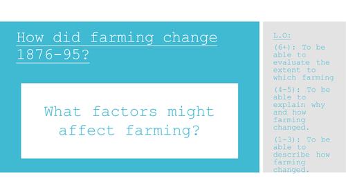 Edexcel American West - Unit 3. How did farming change? 1876-95