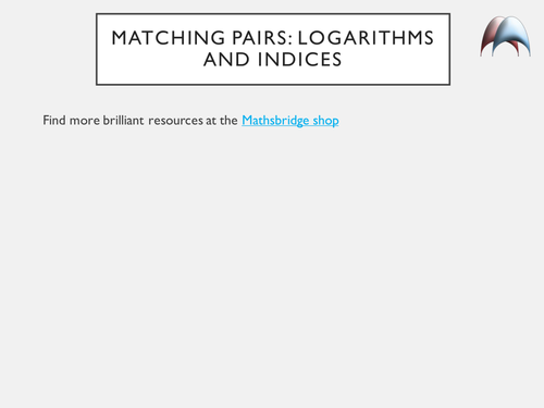 Matching Pairs - Find the Differential