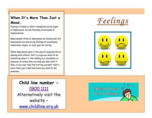 My feelings information booklet