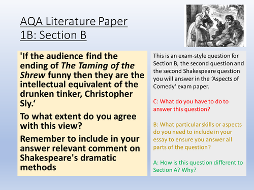 possible essay questions for taming of the shrew