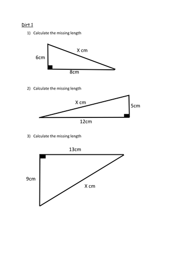 Differentiated Pythagoras Starter or Plenary by kitwedom