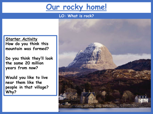 Rocks and Geology SoW