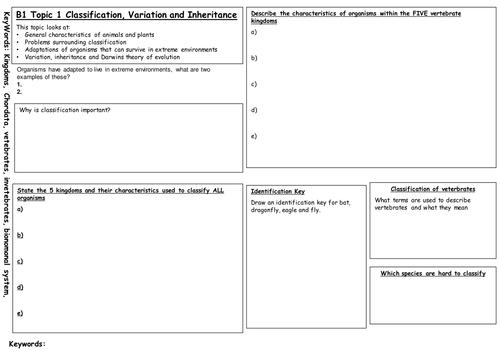 B1 Edexcel B1 revision mats and a 59 slide presentation