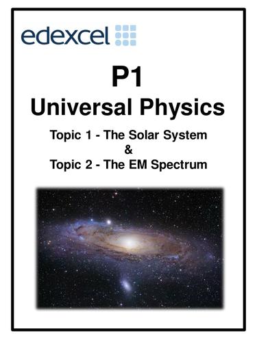 Edexcel P1 Topic 1 - The Solar System &  Topic 2 - The EM Spectrum workbooklet