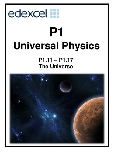 Edexcel P1 Topic 3 Universal Physics work booklet