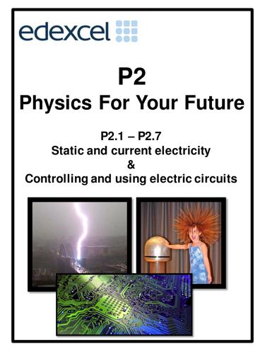 Edexcel P2  Physics For Your FutureTopic 1 + 2 work booklet