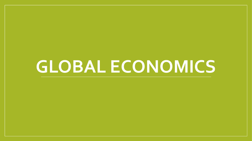 A Level Economics - Global Economics Revision Group Work Questions