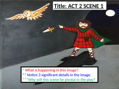 Macbeth Act 2 Scene 1 Is This A Dagger Soliloquy Worksheets For Lower Ability Students By HMBenglishresources1984