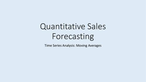 Quantitative Sales Forecasting