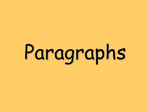 Paragraphs lesson using collaborative learning styles.