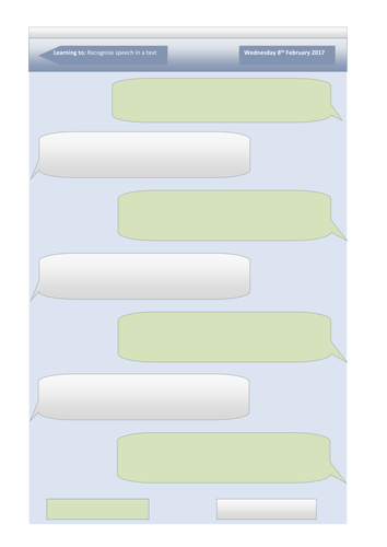 Blank iPhone Conversation Template