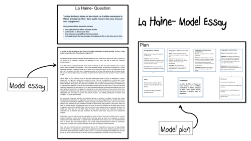 la haine model essays as and a french lot by  la haine model essays 2 as and a2 french lot2 by laprofdefrancais teaching resources tes