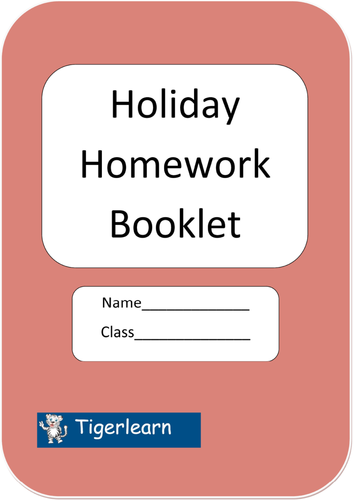 Holiday homework booklet - 10 tasks covering English and Maths. by ...