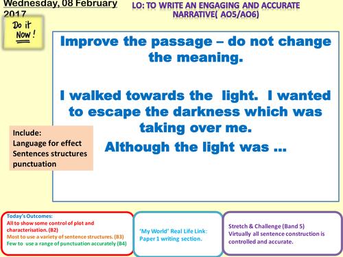 creative writing tasks ks3