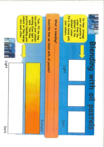 Blending with oil pastels Worksheet