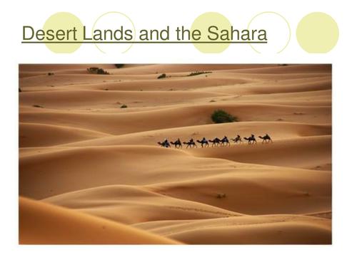 Deserts unit of work