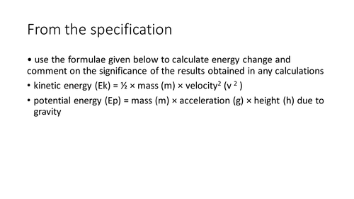 Physics section AQA A level Applied Science Unit 2 Energy Transfer Systems Physics