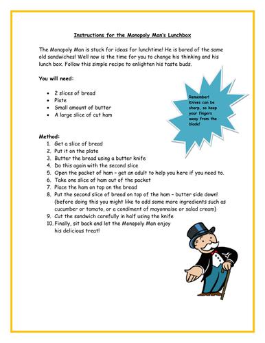 Example Text Instructions Ks2 By Xxxalicegibsonxxx Teaching