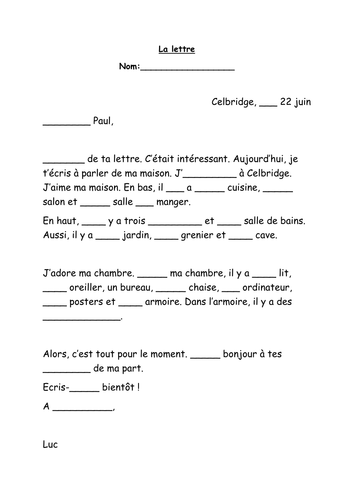 Emercullens shop teaching resources tes la lettre an introduction to french letter writing spiritdancerdesigns Choice Image