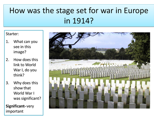 What were the causes of World War I?