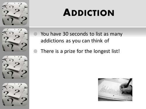 A Level AQA Psychology (New Spec) Addiction Lesson 1 - Defining addiction
