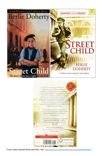 Berlie Doherty - Street Child - 7 sessions of Guided Reading / Whole class activities