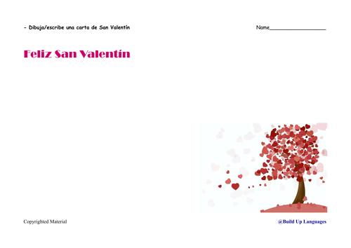 10.San Valentín- dibuja/escribe tu propia carta