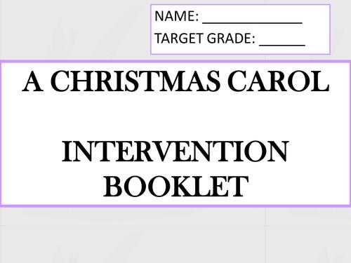 A Christmas Carol GCSE mini intervention booklet