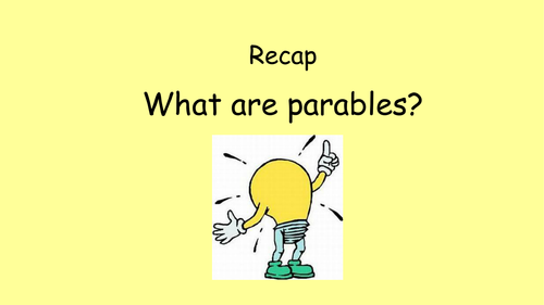 FULLY Resourced SOW Parables (RE)