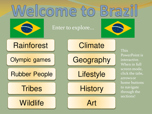 Brazil Information PowerPoint for KS2 - comprehensive and interactive