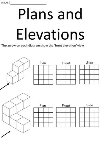 Plan Elevation Maths Worksheet : Gcse d and shapes perimeter area resources tes