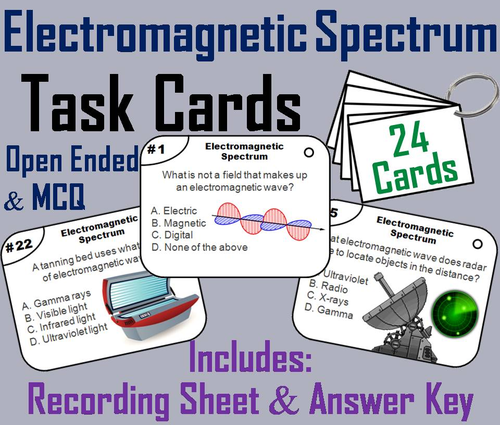 Electromagnetic Spectrum Task Cards