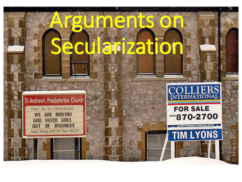 Secularisation second lesson  - How do we measure it and theoretical commentary