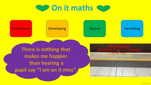 GCSE 9 - 1 New specification: Mind the gap quiz (wk 1)  - calculator skills foundation paper 3.