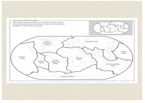 Tectonic Plates Puzzle By Gjolly2 Teaching Resources