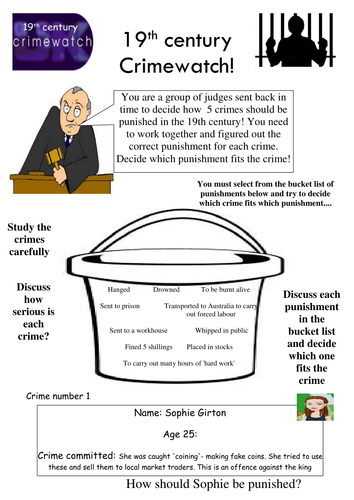 Crime and Punishment group decision making activity