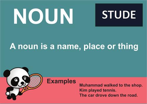 KS3 or GCSE Noun Grammar Poster