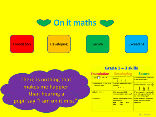 9 - 1 GCSE; Mixed starter skills - Grade 1 to 3.