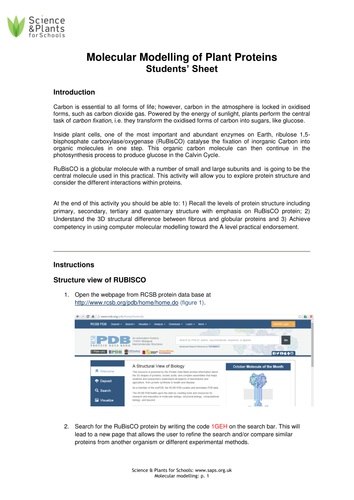 Computer modelling OCR PAG 10 in association with SAPS