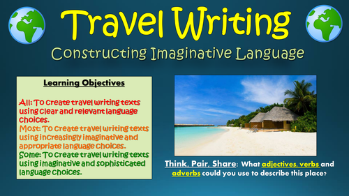 travel writing constructing imaginative language