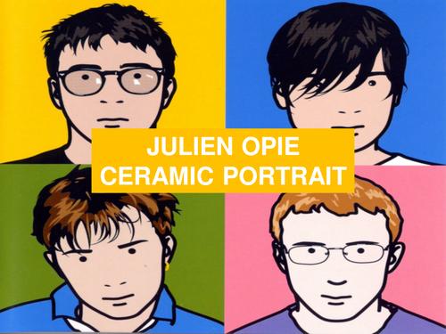 Julian Opie Ceramic Portrait