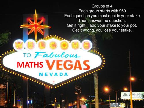 Maths Vegas - Linear, Quadratic and Cubic graphs