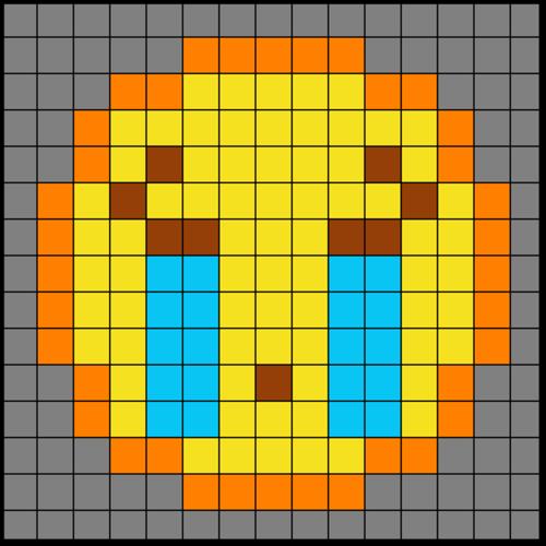 Colouring by Trig Ratios, Sad Tears Emoji (Solo Mosaic)