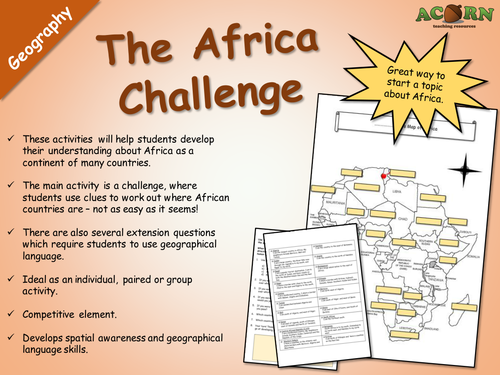 Geography - The Africa Challenge