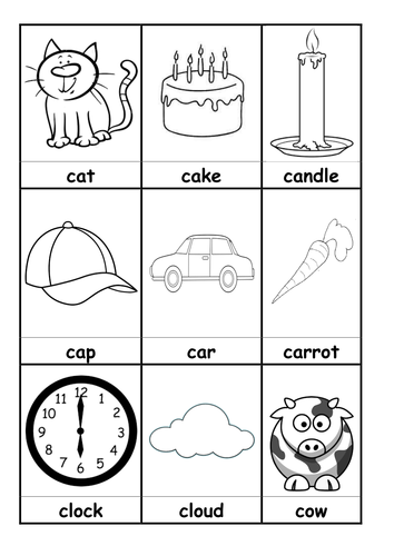 words beginning with c flashcards by sara turner montessori